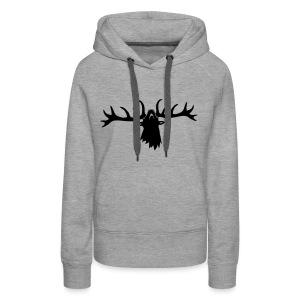tiershirt t-shirt hirsch röhrender brunft geweih elch stag antler jäger junggesellenabschied - Frauen Premium Hoodie