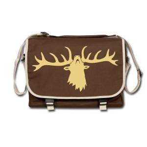 tiershirt t-shirt hirsch röhrender brunft geweih elch stag antler jäger junggesellenabschied förster jagd - Umhängetasche