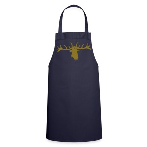 tiershirt t-shirt hirsch röhrender brunft geweih elch stag antler jäger junggesellenabschied förster jagd - Kochschürze