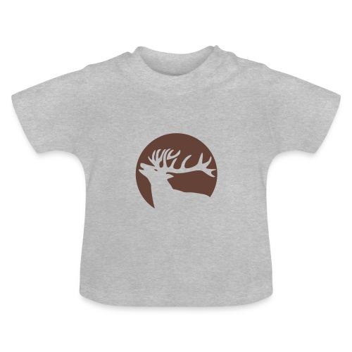 tiershirt t-shirt hirsch röhrender brunft geweih elch stag antler jäger junggesellenabschied förster jagd - Baby T-Shirt