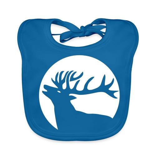 tiershirt t-shirt hirsch röhrender brunft geweih elch stag antler jäger junggesellenabschied förster jagd - Baby Bio-Lätzchen