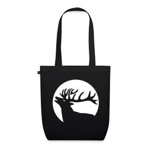 tiershirt t-shirt hirsch röhrender brunft geweih elch stag antler jäger junggesellenabschied förster jagd - Bio-Stoffbeutel