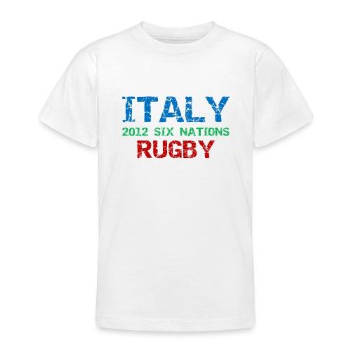 Kids Italy Six Nations T-Shirt - Teenage T-Shirt