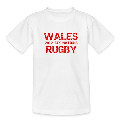 Kids Wales Six Nations T-Shirt - Teenage T-Shirt