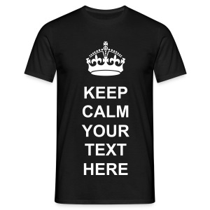 Keep Calm Crown Black