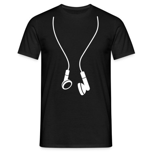 Earphones - Male T-Shirt - Men's T-Shirt