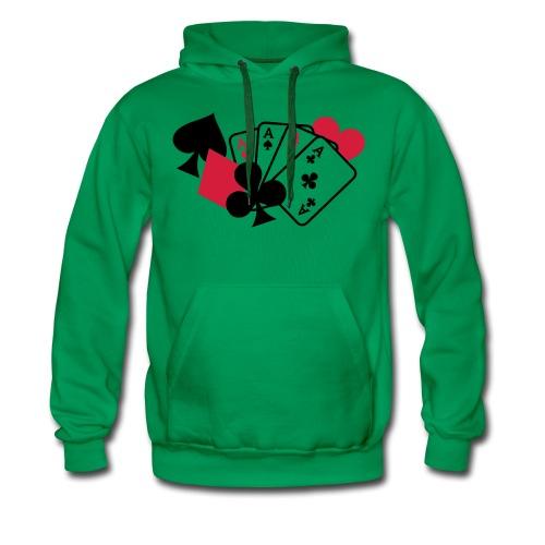Kapuzenpullover Grün Aces - Männer Premium Hoodie