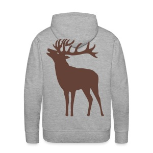 tiershirt t-shirt hirsch röhrender brunft geweih elch stag antler jäger junggesellenabschied förster jagd - Männer Premium Hoodie