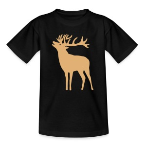 tiershirt t-shirt hirsch röhrender brunft geweih elch stag antler jäger junggesellenabschied förster jagd - Teenager T-Shirt