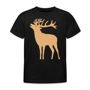 tiershirt t-shirt hirsch röhrender brunft geweih elch stag antler jäger junggesellenabschied förster jagd - Kinder T-Shirt
