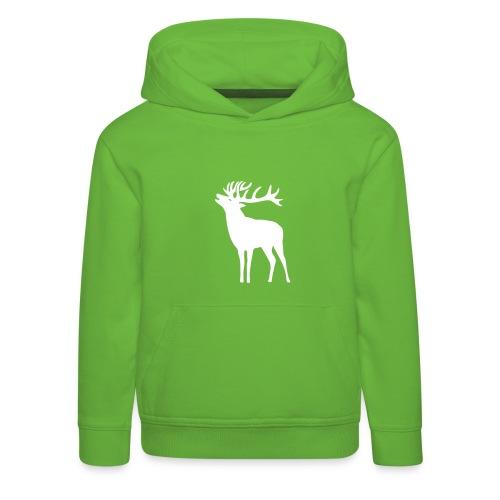 tiershirt t-shirt hirsch röhrender brunft geweih elch stag antler jäger junggesellenabschied förster jagd - Kinder Premium Hoodie