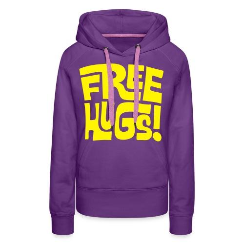 'Free hugs' - Vrouwen Premium hoodie
