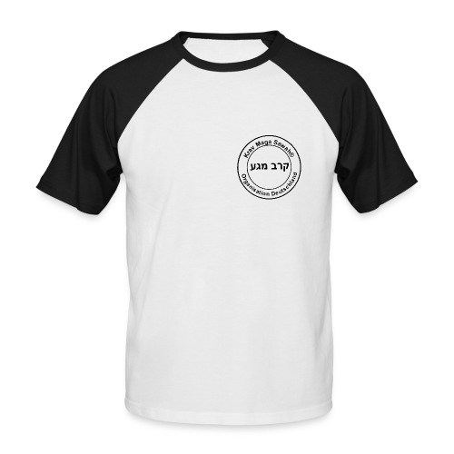 Krav Maga Sawah kurzärmliges T-Shirt sw 1 - Männer Baseball-T-Shirt