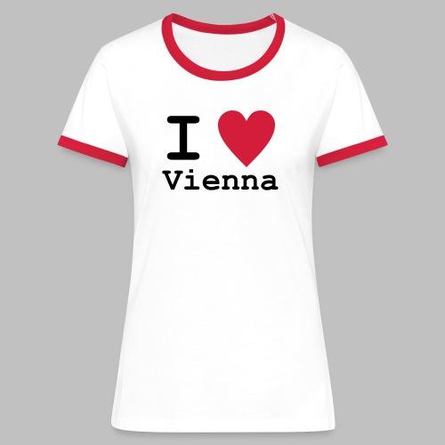 I Love Vienna - Frauen Kontrast T-Shirt - Frauen Kontrast-T-Shirt