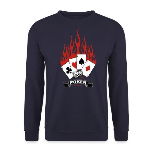 Burning Quad Aces - Männer Pullover