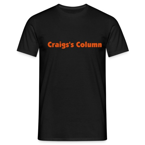 Craig's column black T-shirt 2 - Men's T-Shirt