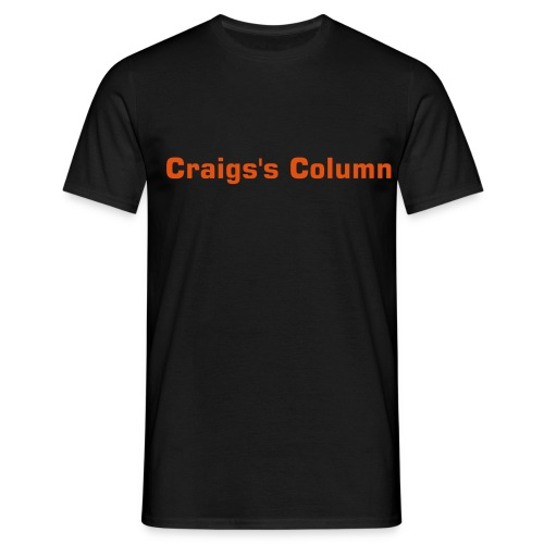 Craig's column black T-shirt - Men's T-Shirt