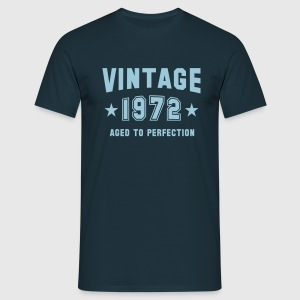 VINTAGE 1972 T-Shirt - Aged To Perfection SN - T-shirt herr