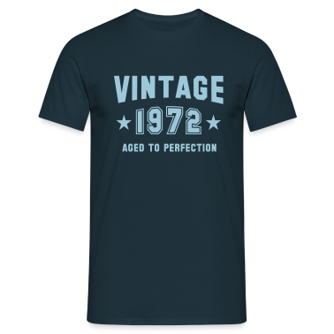 VINTAGE 1972 T-Shirt - Aged To Perfection SN