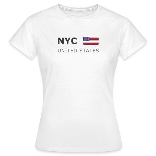 Women's T-Shirt NYC UNITED STATES dark-lettered - Women's T-Shirt
