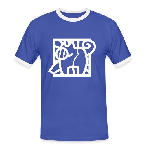 Gestileerde glas-in-lood big - Mannen contrastshirt