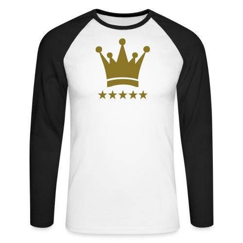 king vest - Mannen baseballshirt lange mouw