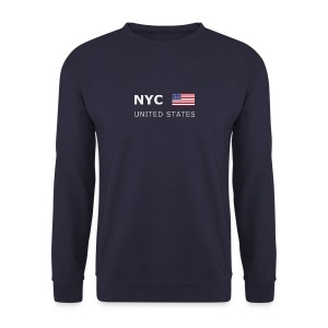 Men's Pullover NYC UNITED STATES white-lettered - Men's Sweatshirt