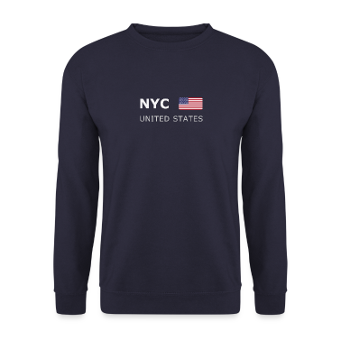 Men's Pullover NYC UNITED STATES white-lettered