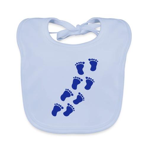Schlapperlatz mit Fussmotiv - Baby Bio-Lätzchen