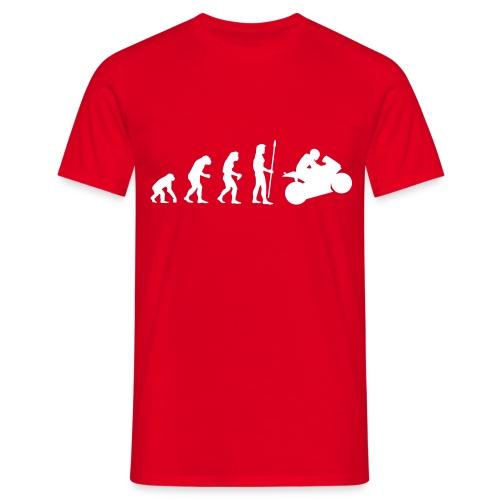 Evolution to Wheelie - Männer T-Shirt