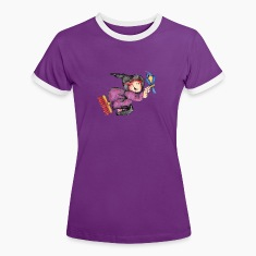The little witch on the broom T-Shirts