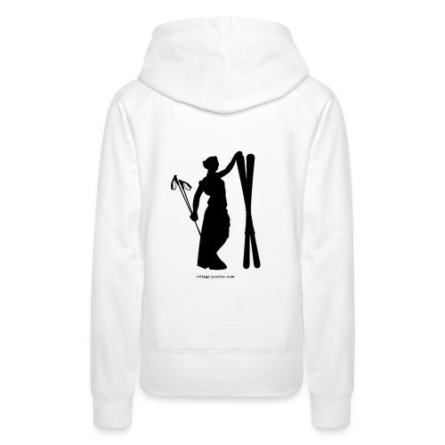 La justice au ski Sweat-shirts - Sweat-shirt à capuche Premium pour femmes