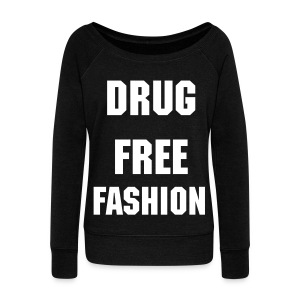 Woman's Drug Free Fashion Top - Women's Boat Neck Long Sleeve Top