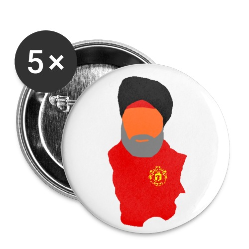 The Fat Sikh - Large Buttons - Buttons large 2.2''/56 mm(5-pack)