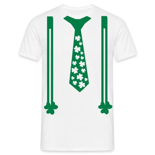 Irish Tie and Braces Classic Shirt in White - Men's T-Shirt