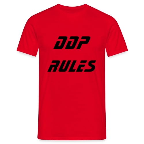 DDP Rules (Red) - Men's T-Shirt
