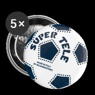 Bottoni & spille ~ Spilla media 32 mm ~ SuperTele Juventus 5PackPins