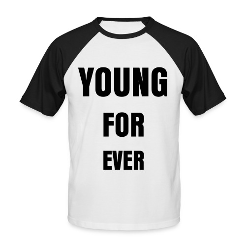 Young For Ever  - Kortærmet herre-baseballshirt