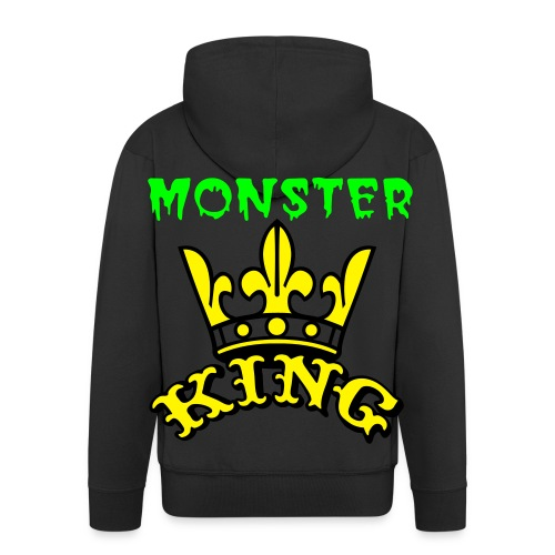 monster king big logo back  - Mannenjack Premium met capuchon