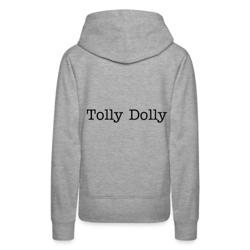 Grey Womens Tolly Dolly Sweatshirt - Women's Premium Hoodie