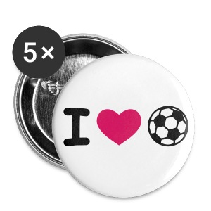 I LOVE SOCCER Button - Buttons medium 32 mm