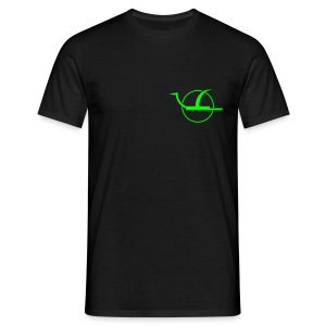 T-Shirt Basic black Logo green f/b - Männer T-Shirt