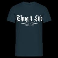Tee shirts ~ Tee shirt Homme ~ T shirt homme thug 4 life crips 4 life