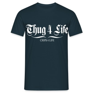 T shirt homme thug 4 life crips 4 life - T-shirt Homme