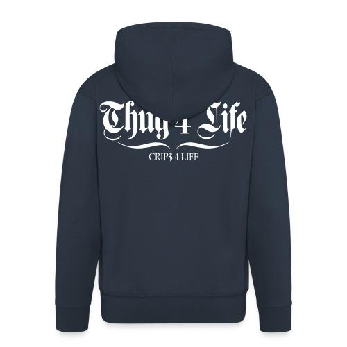 Veste à capuche homme thug 4 life crips 4 life - Veste à capuche Premium Homme