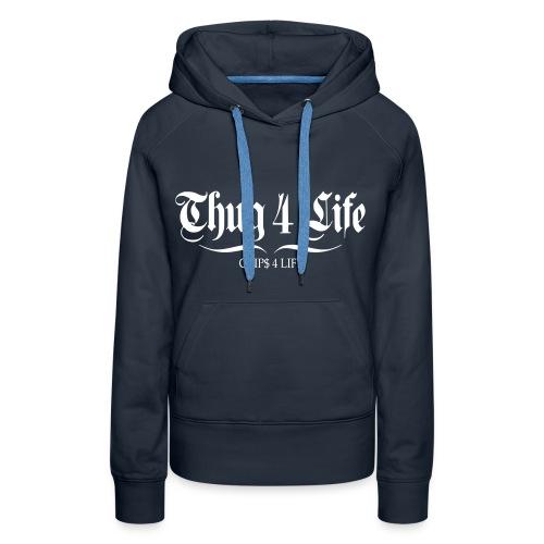 Sweat à capuche femme thug 4 life crips 4 life - Sweat-shirt à capuche Premium pour femmes