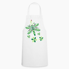 Dragonfly with Flowers Cooking Apron