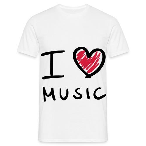 PLR Männer T-Shirt [ I ♥ Music PLR] - Männer T-Shirt