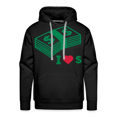 DailyWAVE - I Love Dolla Hoodiy - Men's Premium Hoodie