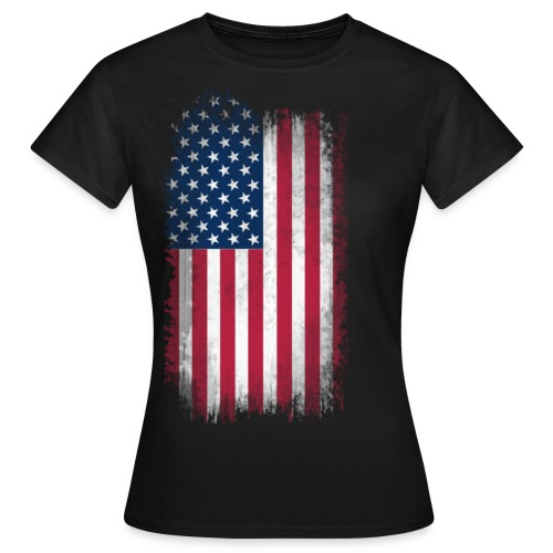 Woman's American Flag T-Shirt - Women's T-Shirt